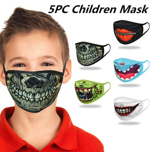 5pc Halloween Face Masks