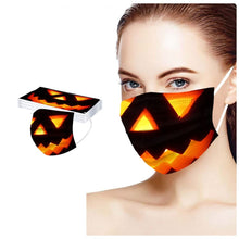 Load image into Gallery viewer, Pumpkin Halloween Face Mask