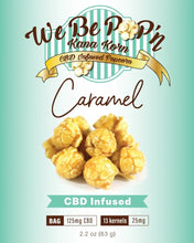 Load image into Gallery viewer, 125mg CBD Popcorn Carmel