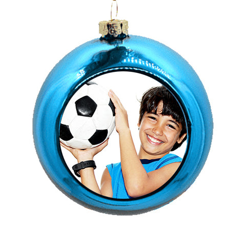 Personalised Blue Christmas Bauble