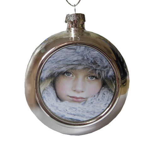Personalised Silver Christmas Bauble