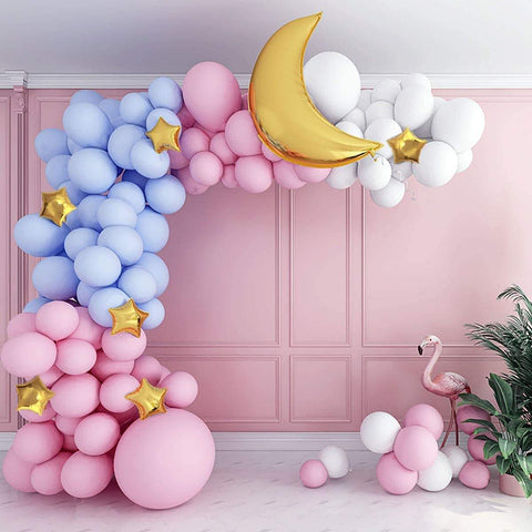 Pastel Gender Reveal with Moon and Stars