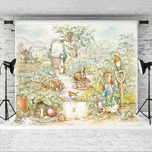 Classic Peter Rabbit Storybook Backdrop - 5x7 Feet