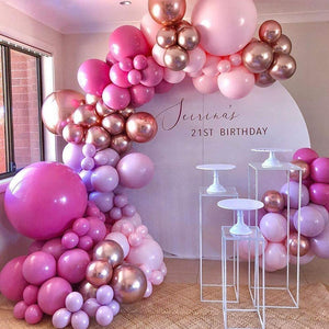 Pink Rainbow Ombre Balloon Garland Kit