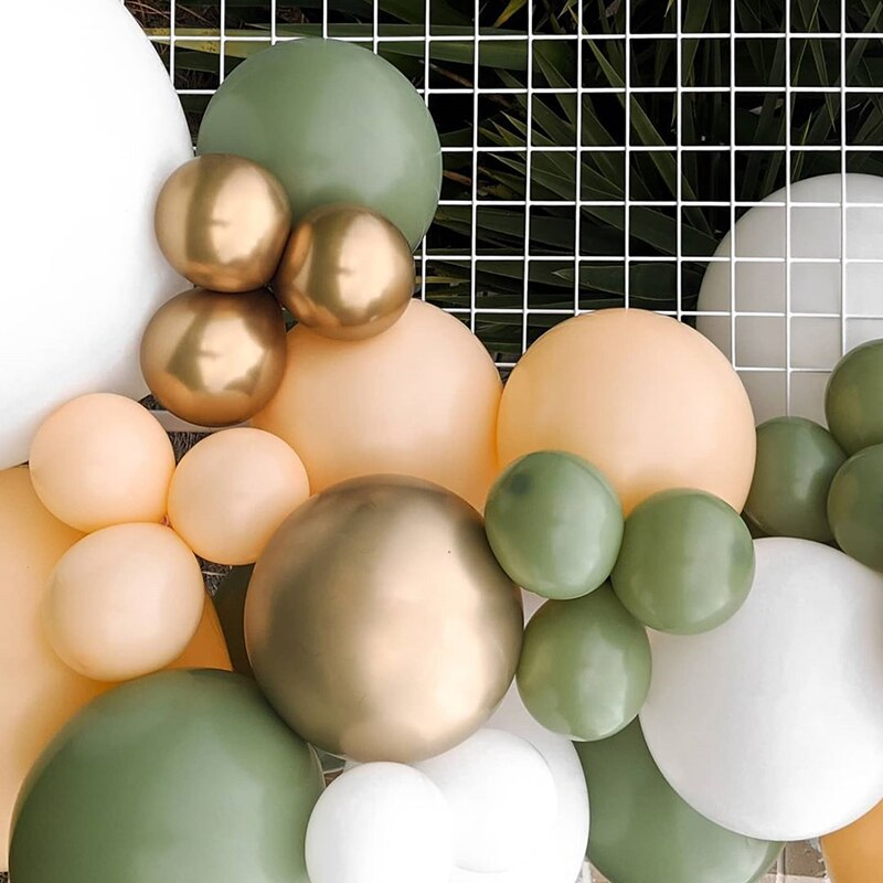 Boho Safari Sage & Gold Balloon Garland Kit