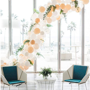 Peach and White Balloon Garland Kit