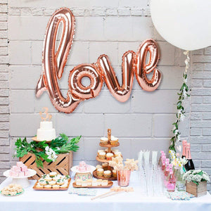 RoseGold 42-Inch Large Love Balloon