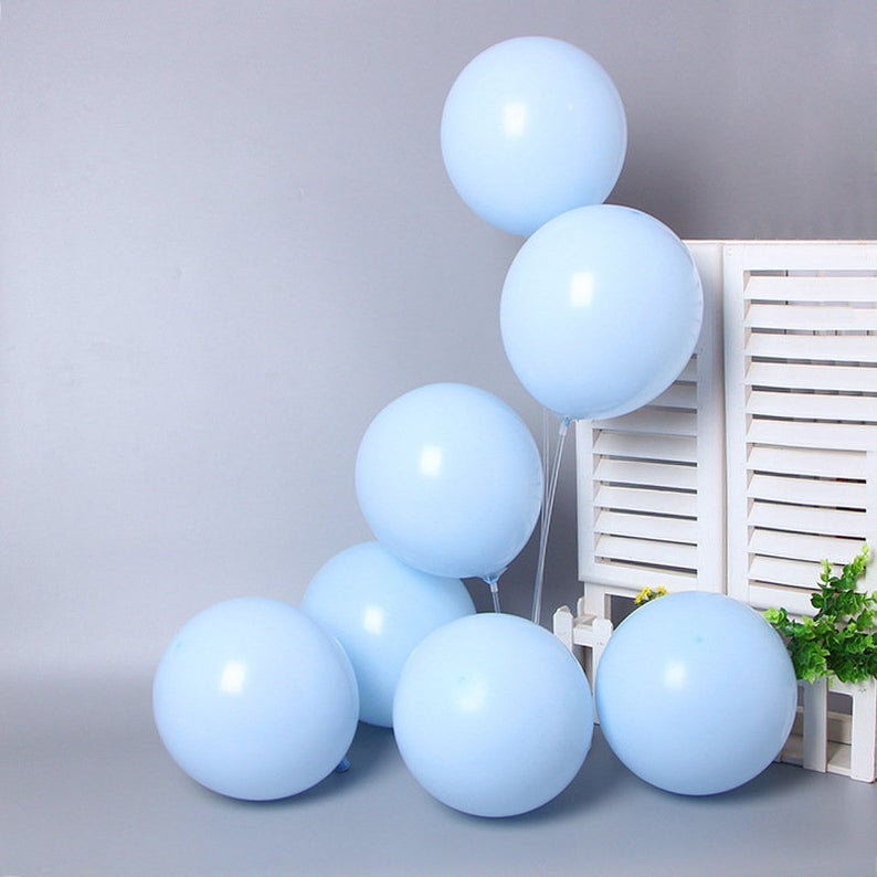 Baby Blue, Gold & White Balloon Garland Kit