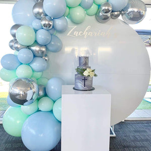 Blue, Mint & Silver Garland Balloon Kit