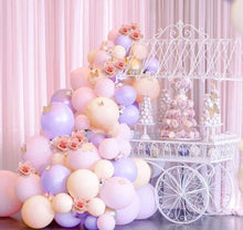 Purple, Pink and Peach Princess Balloon Garland Kit