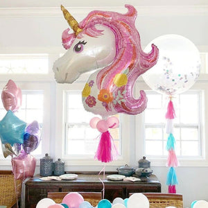 Pink 46 Inches Giant Unicorn Kids Birthday Party Balloons