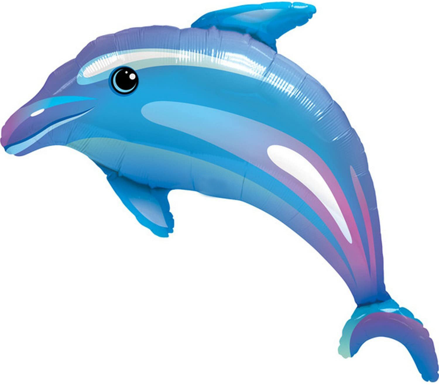 Blue 42 Inch Giant Dolphin Party Balloon
