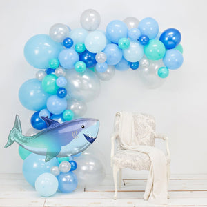 Blue Baby Shark Party Garland Balloon Kit