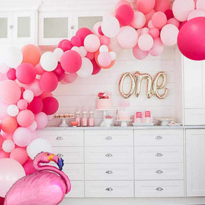 Pink Tropical Flamingo Garland Balloon Kit