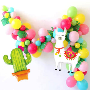 Llama and Cactus Fiesta Garland Balloon Kit