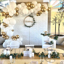 White and Gold Balloon Garland Kit