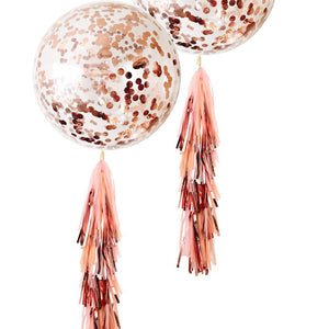 RoseGold 3-foot Giant Metallic Bridal Shower & Birthday Balloons Confetti Balloons