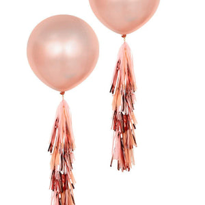 RoseGold 3 Foot Giant Metallic Bridal Shower Balloons