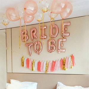 Rose Gold Bride to Be Balloon Banner