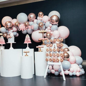 Rose Gold & Gray Balloon Garland Kit