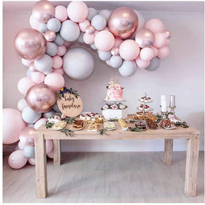 RoseGold & Gray Garland Balloon Kit