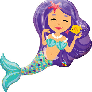 38-Inch Underwater Mermaid Kids Birthday Party Balloon