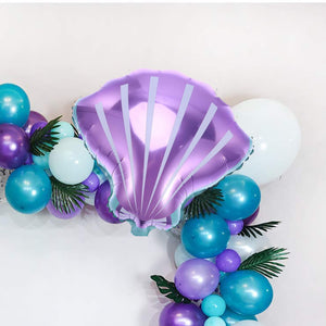 Purple 21 Inch Seashell Party Balloons