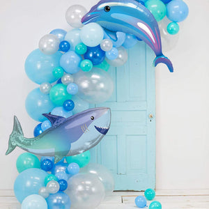 Blue Baby Shark Party Balloon Garland Kit