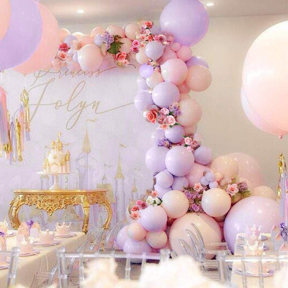 Purple, Pink and Peach Princess Garland Balloon Kit