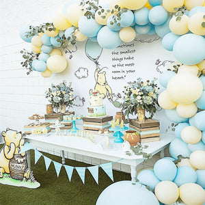 Blue and Yellow Classic Pooh Balloon Garland Kit