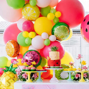 Pink, Green & Yellow Tropical Fruity Balloon Garland Kit