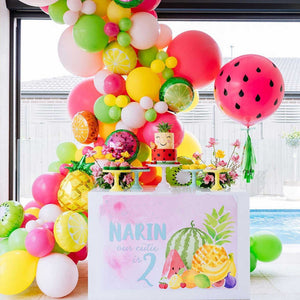 Pink, Green & Yellow Tropical Fruity Garland Balloon Kit