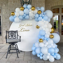 Baby Blue, Gold & White Garland Balloon Kit