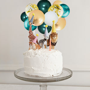 Garland Cake Topper Safari Mini Balloon