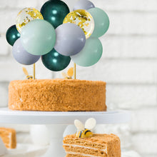 Green and Gold Wild One Jungle Themed Confetti Mini Balloon Cake