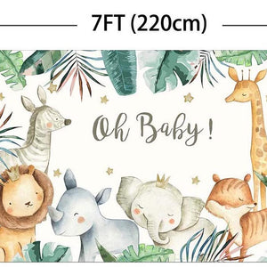Oh Baby Jungle Baby Shower Backdrop