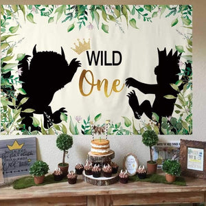 Wild One Wild Thing Birthday Backdrop
