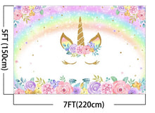 5x7 Feet Rainbow Unicorn Backdrop