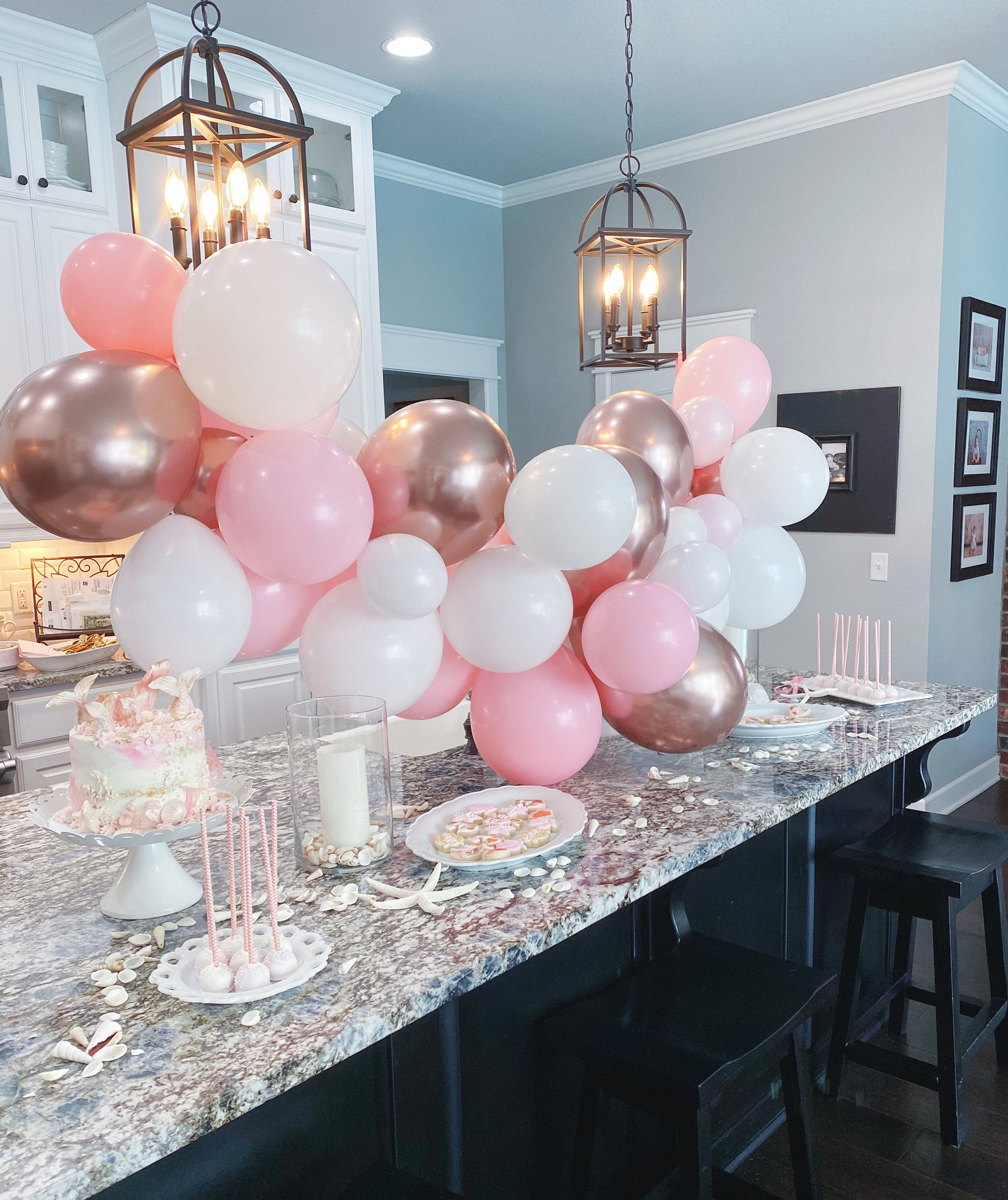 Pink & Rose Gold Balloon Garland Kit