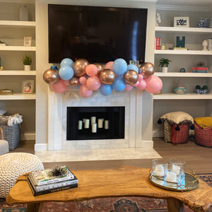 Rose Gold Gender Reveal Balloon Garland Kit