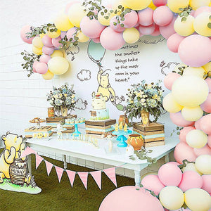 Pink Classic Pooh Balloon Garland Kit