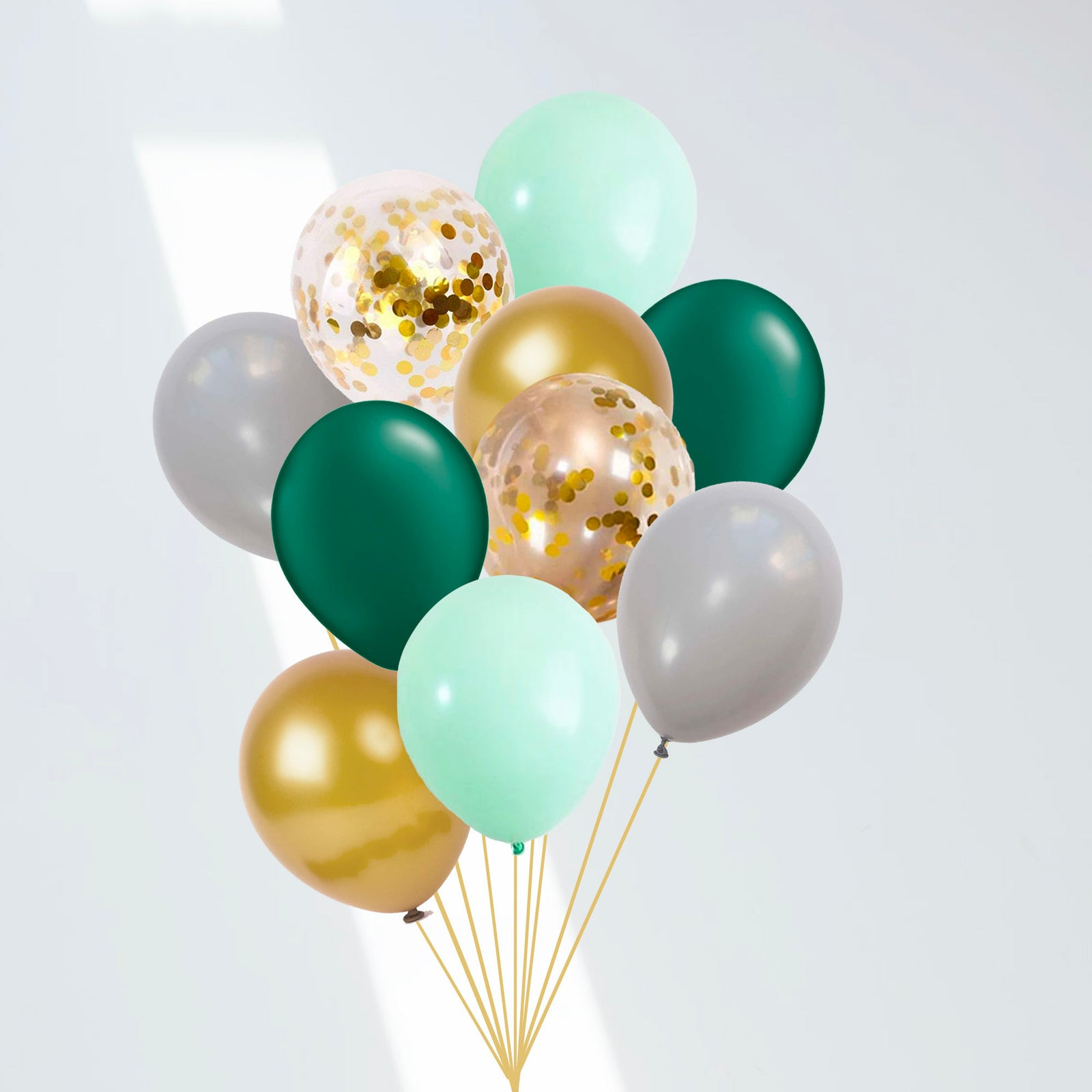 Green and Gold 10-Pack Wild One Balloon Bouquet