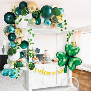 St. Patrick's Day Green & Gold Balloon Garland Kit