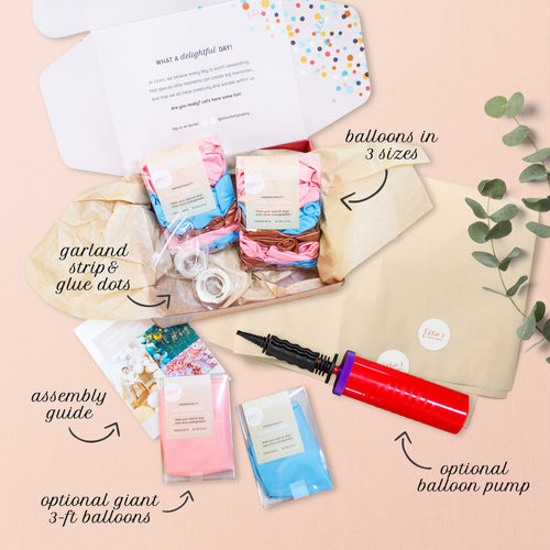 Balloon garland kit - what's included