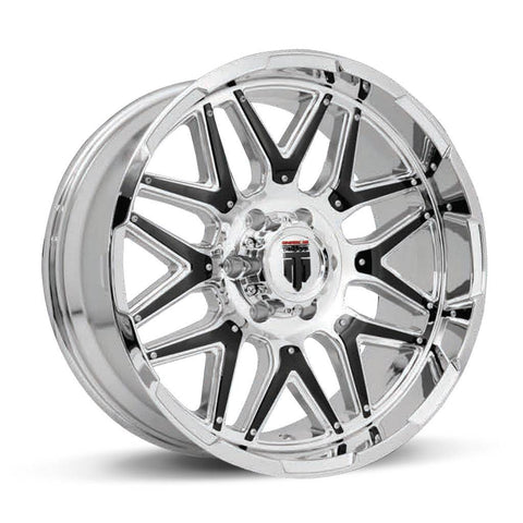 Truxx Wheels AT151 Chrome Black Ins