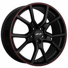 XXR Wheels 1FK Black Red Pinstripe