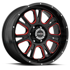 Vision Wheels 399 Fury Black Red Tint