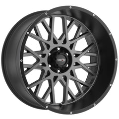 Vision Wheels 412 Rocker Gunmetal Black Lip
