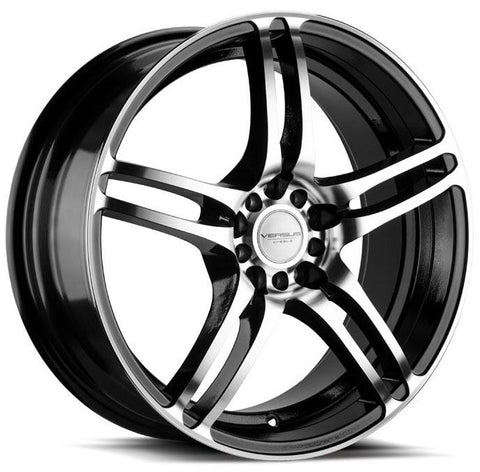 Versus Wheels VS454 Black Machine Face