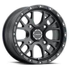 Vision ATV Wheels 545 Rocker Satin Black